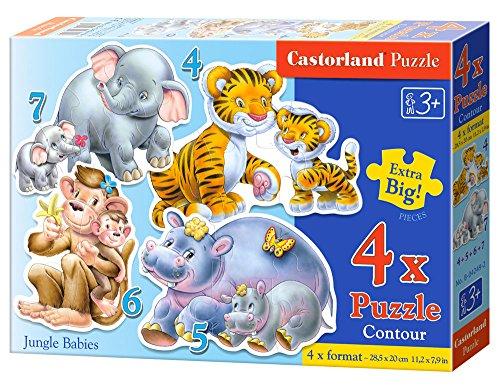 Castorland 4 Jungle Babies Jigsaw Premium Puzzle