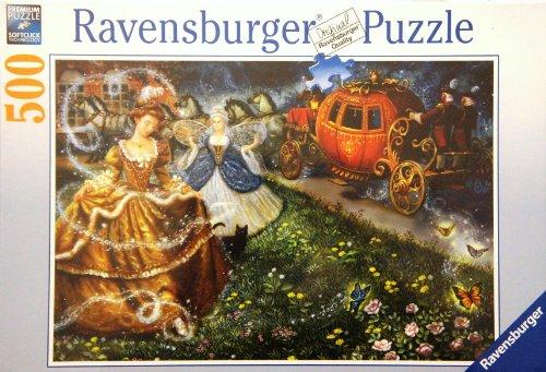 Ravensburger Premium Puzzle Cinderellas Transformation 500 Piece Jigsaw Puzzle