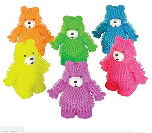 Happy puffer bear sensory fidget squishy toys adhd autism therapy