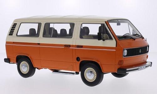 VW T3 Bus orangebeige Model Car Ready-made Premium ClassiXXs 118
