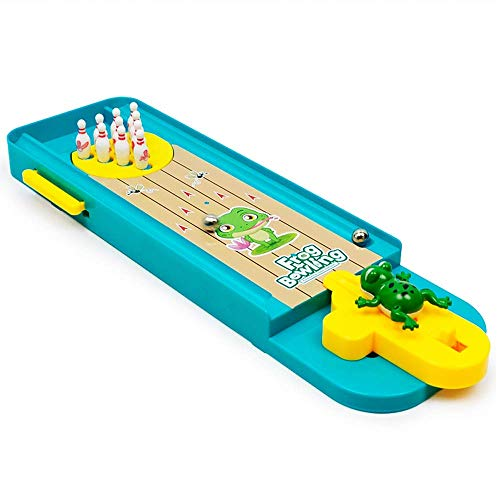 H2solution Mini Bowling Game Toy Desktop Launcher Bowling Game Intelligence Development and Stress Relief Family Games for Kids and Adults