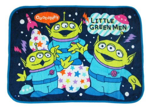 Small Blue Toy Story Green Alien Blanket for Kids