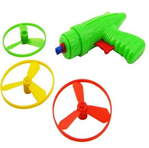 yoyostore 1 Set Plastic Space Game Toy Gun Spin Flying Saucer Shooter Model Kit Children Kids Christmas Gift ---- Randomly Color