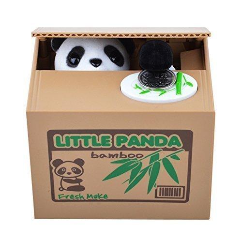 BIGOCT Cute Stealing Coin Panda Money Box Piggy Bank