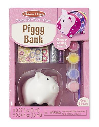 Melissa Doug Decorate-Your-Own Piggy Bank Craft Kit