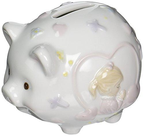 Cosmos 2035 Fine Porcelain Praying Boy Piggy Bank 4-12-Inch