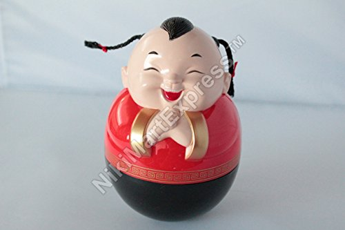 Roly Poly Traditional Chinese Lucky Boy Piggy Bank Coin Cash Money Saving Box