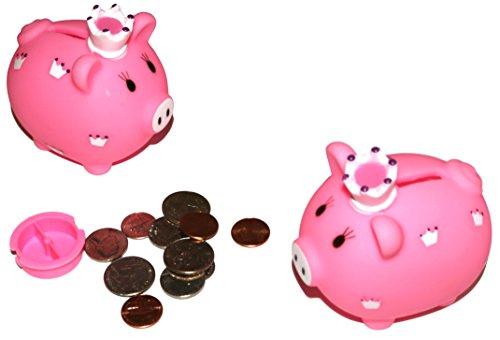 Little Princess Piggy Bank For Kids Coins Savings Pack of 6
