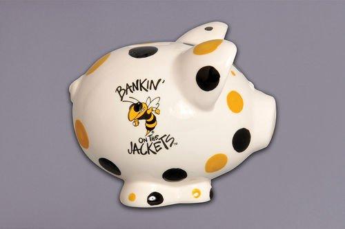 Magnolia Lane Collegiate Ceramic Piggy Bank Georgia Tech Yellow Jackets