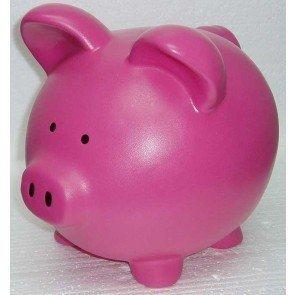 Pink Hot Ceramic Piggy Banks - Custom 8 Inch Custom