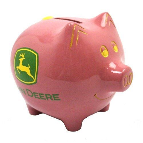 John Deere Pink Piggy Bank by M CORNELL IMPORTERS INC
