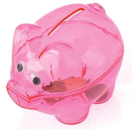 Pink Piggy Banks 1 Dozen - Bulk