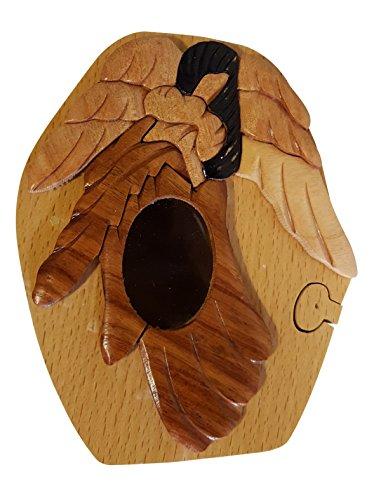 Handmade Angel Wooden Money Box Piggy Bank 4753