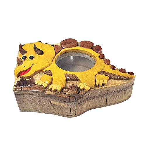 Handmade Dinosaur Wooden Money Box Piggy Bank 4636
