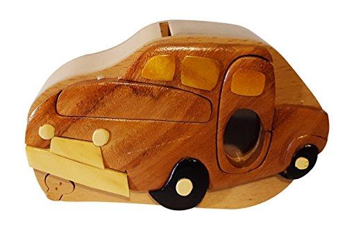 Handmade Pickup truck Wooden Money Box Piggy Bank 4738