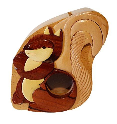 Handmade Squirrel Wooden Money Box Piggy Bank 4770