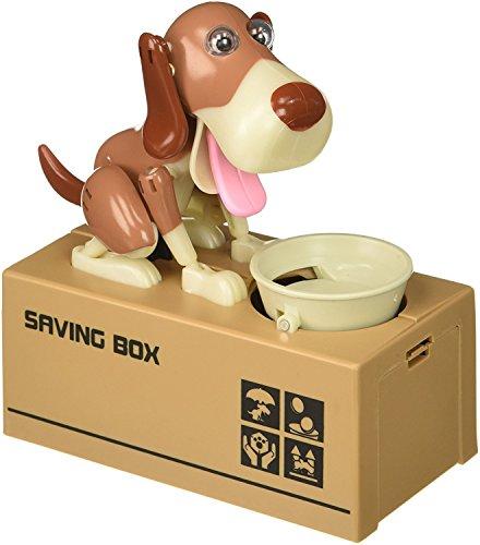 BIGOCT Dog Piggy Bank - Robotic Coin Munching Toy Money Box