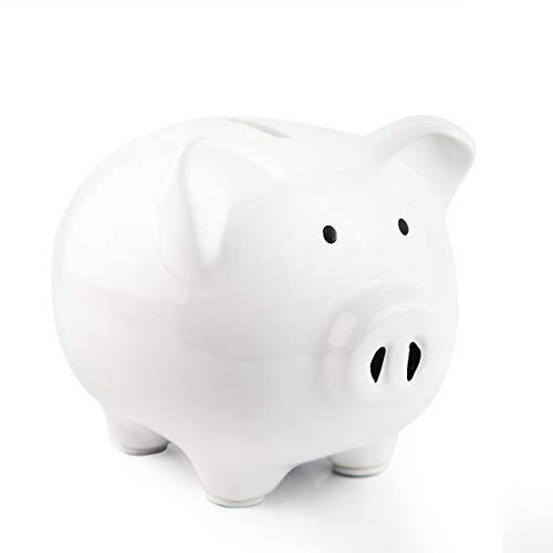 KNRAGHO Piggy BankCeramic Money Piggy Bank Kids