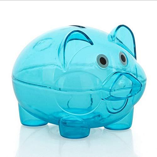 Liobaba Cartoon Pig Bank Transparent Piggy Bank Money Coin Collector