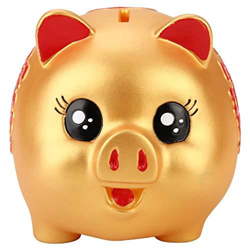 Pig Saving Bank Golden Cute Plastic Pig Bank Pig Toy Coin Money Cash Collectible Saving Box Kids Gift Savings Bank Cash Box