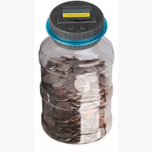 Powstro Piggy Bank Digital Counting Coin Bank Creative Large Money Saving Box Jar Bank LCD Display Coins Saving Gift Dollar