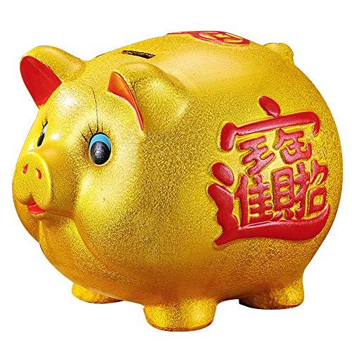9 Gold Pig Lucky Porcelain Fortune Pig Money Box Piggy Bank