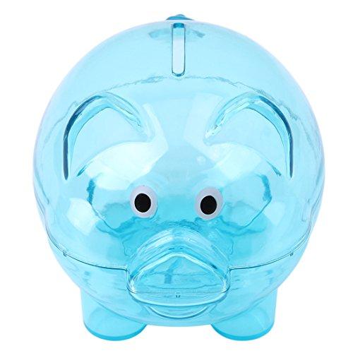 Edtoy Piggy Bank Small Piggy Banks for Child Creative Color Pig Piggy Banks for Birthday Gift Blue