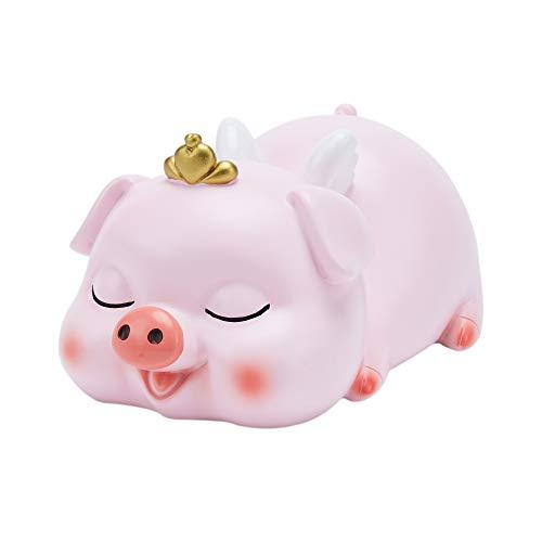 VANVENE Piggy Bank for Girls Lovely Pink Pig Resin Money Bank Coin Bank for Kids Kids Children Boys  at Nursery or Home Décor Keepsake Favorite Unique Birthday Baby Gift Idea Imperial Crown