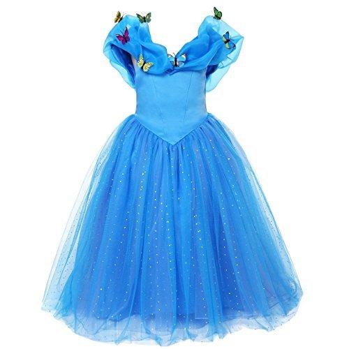 UK ELSA ANNA Girls Party Outfit Fancy Dress Snow Queen Princess Halloween Costume Cosplay Dress UK-CNDR4 6-7 years UK-CNDR4 by ELSA ANNA