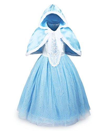 UK ELSA ANNA Girls Party Outfit Fancy Dress Snow Queen Princess Halloween Costume Cosplay Dress UK-CNDR6 2-3 Years CNDR6 by ELSA ANNA