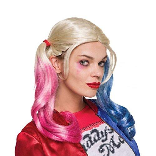Suicide Squad DC Universe Comics Batman Harley Quinn Pink Blue Wig