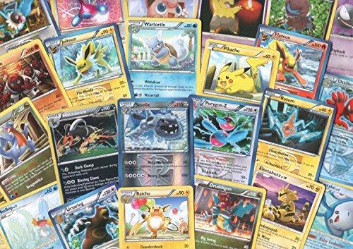 100 Assorted Pokemon Trading Cards with 7 Bonus Free Holo Foils