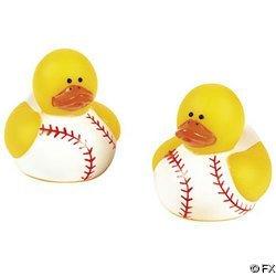 Fun Express Baseball Rubber Duck Party Favors Set 24 Piece