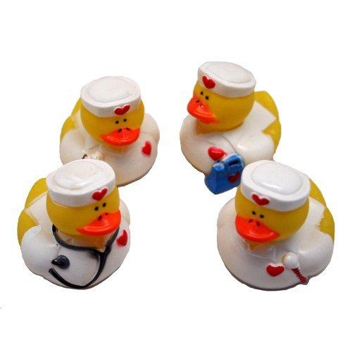 Lot of 12 Nurse ~ Rubber Ducks ~ Party Favors  Scrubs Doctors Model 16841