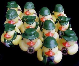 One Dozen 12 Camoflage Rubber Duck Party Favors