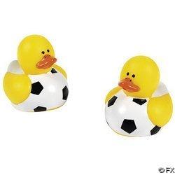 Two Dozen 24pc Soccer Rubber Duck Party Favors