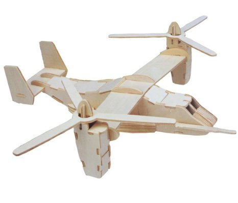 Kaden G-P 3D Jigsaw Woodcraft DIY Assembly Construction Model Plane aircraft airplane Puzzle Kit Wooden Handcraft Educational Products Wooden Art jigsaw puzzle toys for children diy handmade woodOsprey transport aircraft fighting