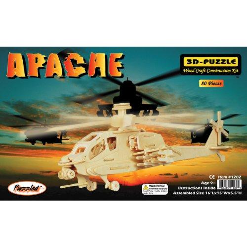 Puzzled Apache 3D Jigsaw Puzzle 80-Piece 16 x 15 x 55