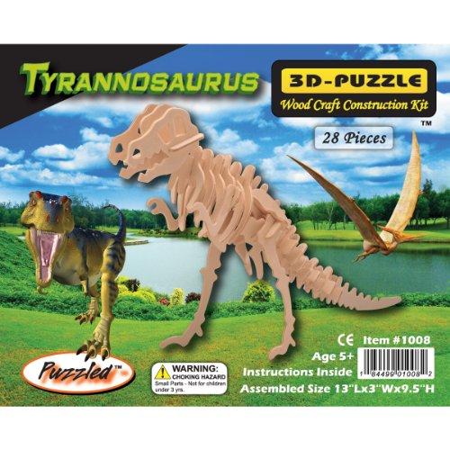 Puzzled T-Rex 3D Jigsaw Puzzle 28-Piece 13 x 3 x 95