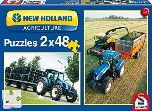 SCHMIDT Puzzles New Holland Tractors Puzzle 48-Piece