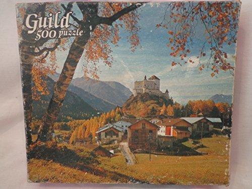 Vintage Guild Puzzle 500 Pieces TARASP CASTLE Tarasp Castle Puzzle