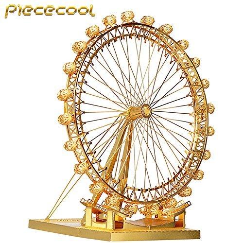 Piececool London Eye Ferris Wheel P043-G Model DIY 3D Metal Puzzle Laser Cut Jigsaw Toys