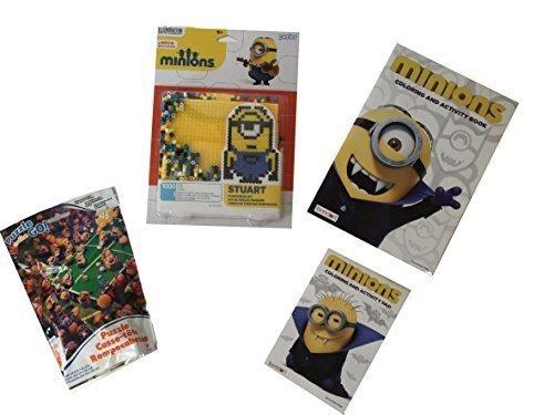 Birthday Boy Haloween Theme Despicable Me Minions Minion BeadsMinion Jigsaw PuzzleMinion Movie Coloring Books 4 items