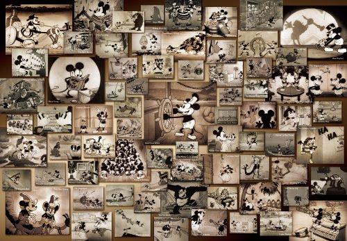 Tenyo Mickey Mouse Monochrome Black and White Film Movie Jigsaw Puzzle 1000 Piece