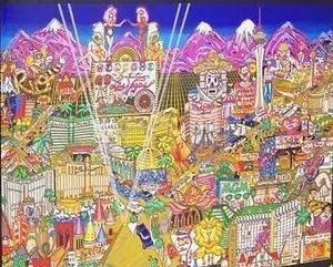 Charles Fazzino Welcome to Fabulous Las Vegas - 2000 Piece Glitter Puzzle