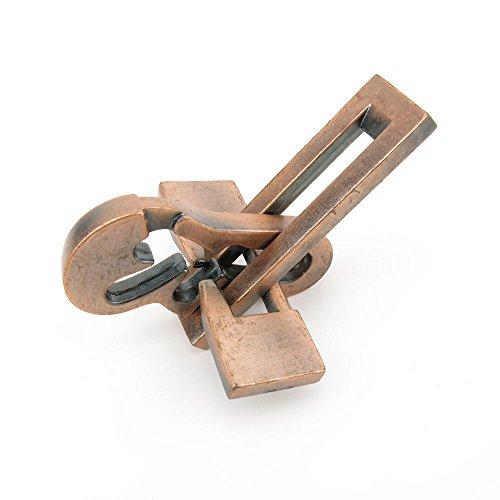 1x Wisdom Logic Mind Intelligence Scientific Creative Thinking IQ Puzzle Toys Disentanglement Game WT913 Bronze Plane