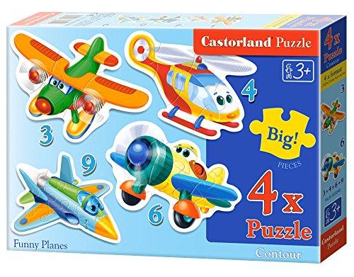 Castorland Funny Planes Puzzle 4 Piece 65 x 433