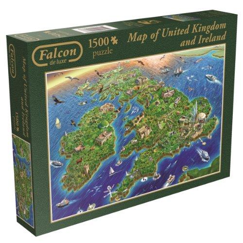 Map of United Kingdom and Ireland 1500 Piece Jigsaw Puzzle