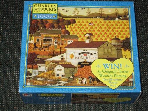 Charles Wysocki Pumpkin Hollow 1000 Piece Jigsaw Puzzle