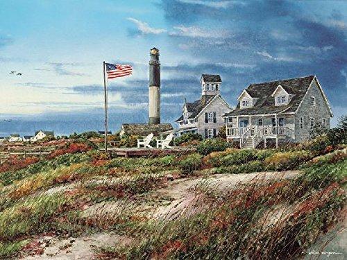 Heritage Puzzle Oak Island Lighthouse Jigsaw Puzzle 550-Piece